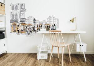 Sticker Cafe im Home-Office